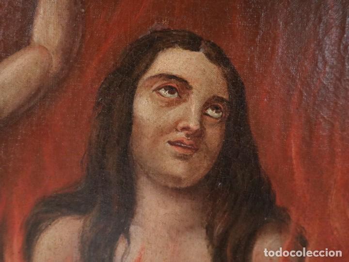 Arte: Bodegón de cerámica y frutas. Óleo sobre tabla. Cataluña, med. S. XX. Mide 40 x 50 cm. - Foto 27 - 236458095