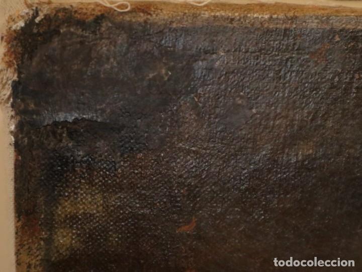 Arte: Bodegón de cerámica y frutas. Óleo sobre tabla. Cataluña, med. S. XX. Mide 40 x 50 cm. - Foto 34 - 236458095