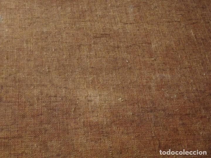Arte: Bodegón de cerámica y frutas. Óleo sobre tabla. Cataluña, med. S. XX. Mide 40 x 50 cm. - Foto 36 - 236458095
