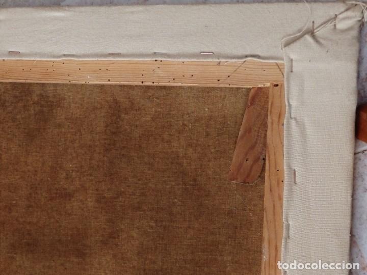 Arte: Bodegón de cerámica y frutas. Óleo sobre tabla. Cataluña, med. S. XX. Mide 40 x 50 cm. - Foto 38 - 236458095