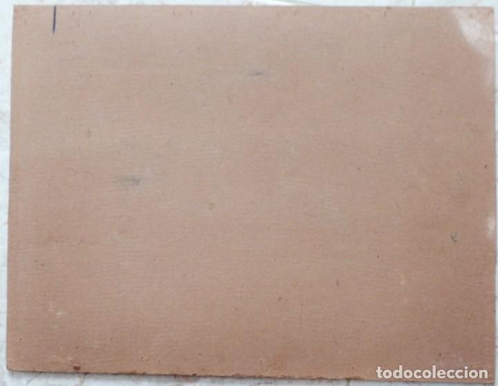Arte: Bodegón de cerámica y frutas. Óleo sobre tabla. Cataluña, med. S. XX. Mide 40 x 50 cm. - Foto 39 - 236458095