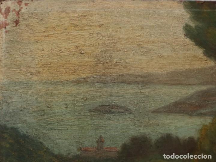 Arte: Bodegón de cerámica y frutas. Óleo sobre tabla. Cataluña, med. S. XX. Mide 40 x 50 cm. - Foto 49 - 236458095