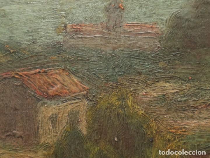Arte: Bodegón de cerámica y frutas. Óleo sobre tabla. Cataluña, med. S. XX. Mide 40 x 50 cm. - Foto 52 - 236458095