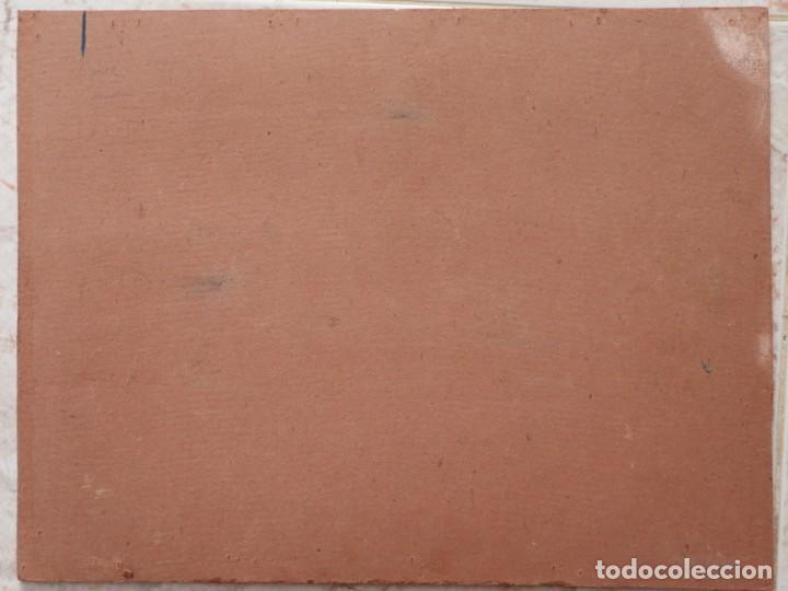 Arte: Bodegón de cerámica y frutas. Óleo sobre tabla. Cataluña, med. S. XX. Mide 40 x 50 cm. - Foto 53 - 236458095
