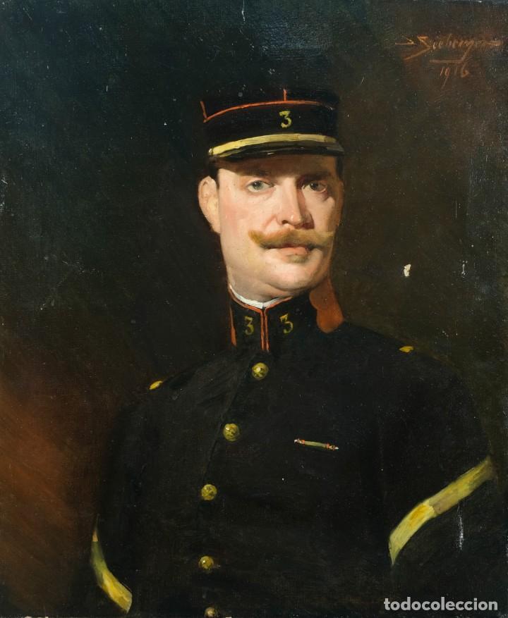 ÓLEO SOBRE LIENZO RETRATO CABALLERO FIRMADO SEEBERGER 1916 (Arte - Pintura - Pintura al Óleo Contemporánea )
