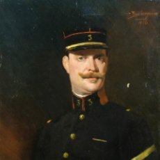 Arte: ÓLEO SOBRE LIENZO RETRATO CABALLERO FIRMADO SEEBERGER 1916. Lote 236964425