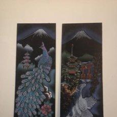 Arte: PAREJA DE CUADROS JAPONESES. Lote 237021180