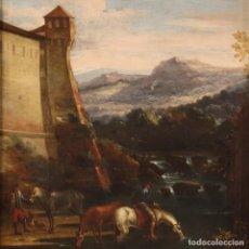 Arte: PINTURA ANTIGUA ITALIANA PAISAJE DEL SIGLO XVII. Lote 237077700