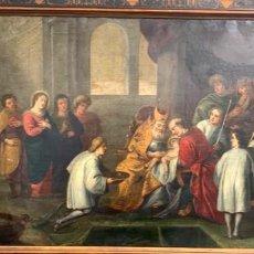 Arte: CUATRO SOBRE COBRE DE LA ESCUELA FLAMENCA DEL SIGLO XVII EL CUADRO PRESENTA LA CIRCUNSICIÓN NO FIRMA. Lote 237110525