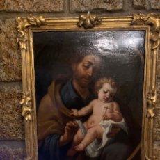 Arte: SAN JOSÉ CON EL NIÑO ESCUELA MADRILEÑA O GRANADINA DEL SIGLO XVII. Lote 237150625