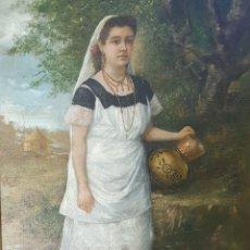 Arte: GONZALEZ MODESTO(ACT.1865-1908)PINTOR ARGENTINO/PARAGUAYO.OLEO SOBRE TELA.. Lote 237204740
