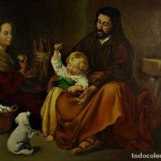 Arte: SAGRADA FAMILIA DEL PAJARO - SEGUIDOR DE MURILLO. Lote 237205240