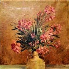 Arte: TINAJA CON ADELFAS ANATOLI ROGINSKY 1807 - 1969. Lote 237365800