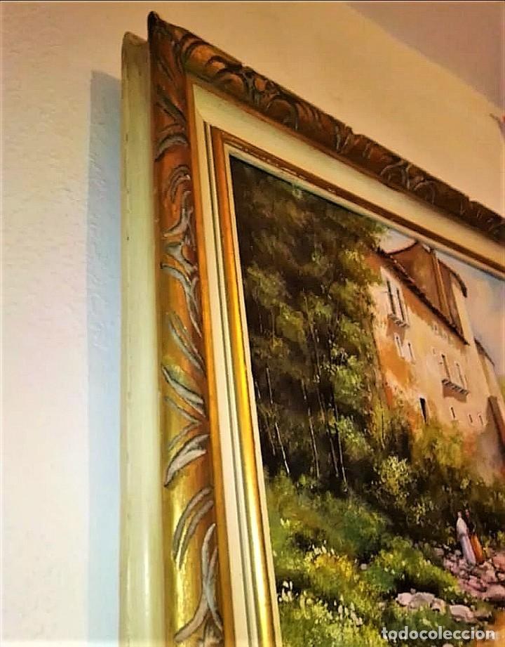 Arte: LAVANDERAS EN EL RIO ILEGIBLE 1930 - Foto 14 - 237390895