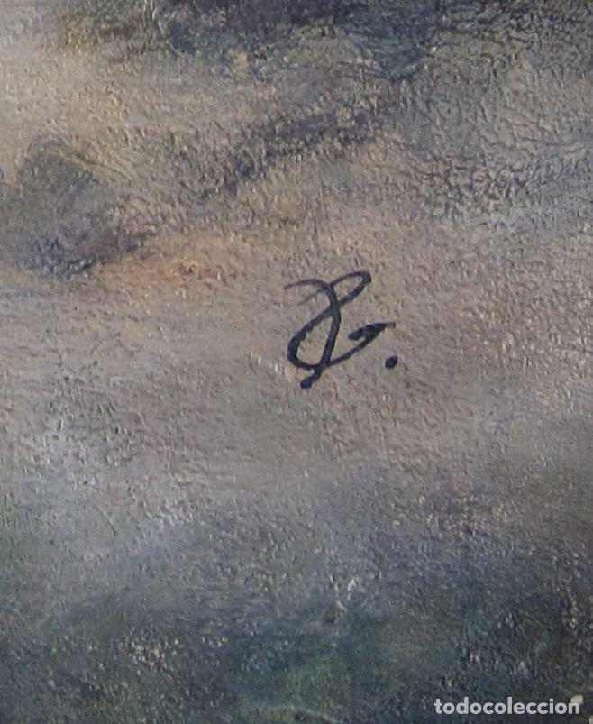 Arte: ESCENA ORIENTALISTA. OLEO SOBRE TELA. FIRMADO CON INICIALES. 32 X 45 CM - Foto 6 - 237478525