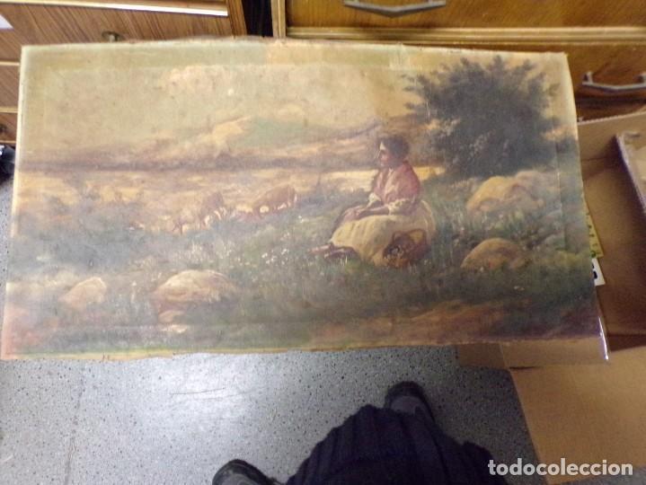 BUEN ANTIGUO OLEO SIGLO 19 FIRMADO RUIZ (Arte - Pintura - Pintura al Óleo Moderna siglo XIX)