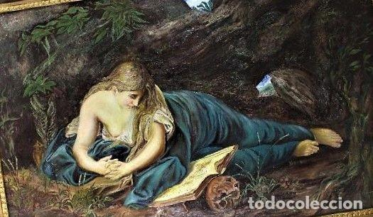 Arte: MARIA MAGDELENA EN LA GRUTA J. LEOSATO - Foto 4 - 246677085