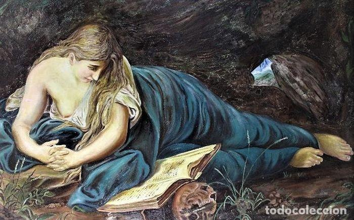 Arte: MARIA MAGDELENA EN LA GRUTA J. LEOSATO - Foto 6 - 246677085