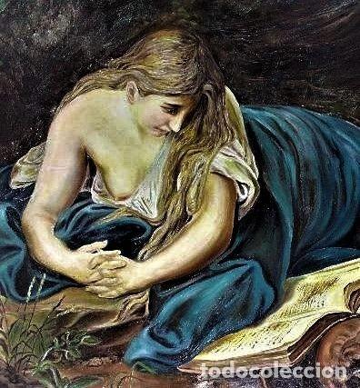 Arte: MARIA MAGDELENA EN LA GRUTA J. LEOSATO - Foto 7 - 246677085