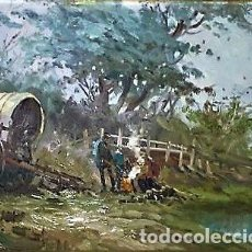 Arte: CAMPAMENTO GITANO LUIS GINER SALAS 1910 - 1975. Lote 237500990