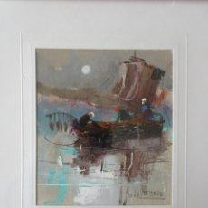 Arte: WUNDERBARES ÖLGEMÄLDE VON PINO LA VADERA 1980. Lote 237533040