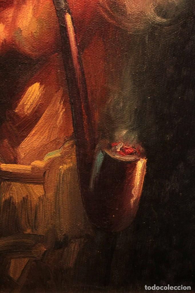 Arte: Oleo sobre lienzo. Excelente calidad. Firmado. El marinero. Primera mitad s.XX. enmarcado 57x49cm - Foto 9 - 237637860
