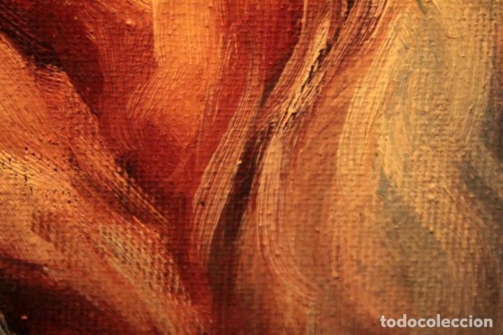 Arte: Oleo sobre lienzo. Excelente calidad. Firmado. El marinero. Primera mitad s.XX. enmarcado 57x49cm - Foto 16 - 237637860