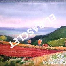 Arte: PINTURA ACUARELA - GRANDE - PAISATGE - DE JOSEP MARFA GUARRO DE -BCN - AÑO 1980 -. Lote 237696370