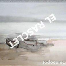 Arte: PINTURA ACUARELA - GRANDE - B ARQUES - DE JOSEP MARFA GUARRO DE -BCN - AÑO 1980 -. Lote 237697285