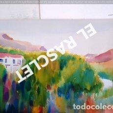 Arte: PINTURA ACUARELA - GRANDE - LLANÇA - DE JOSEP MARFA GUARRO DE -BCN - AÑO 1980 -. Lote 237697860