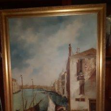 Arte: CUADRO OLEO SOBRE LIENZO, 1,03 X 130 CM, CANAL DE VENECIA.. Lote 237729465