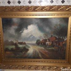 Arte: CUADRO OLEO SOBRE LIENZO, HOLANDES,FIRMADO Y FECHADO 1929. Lote 237734745