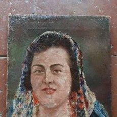Arte: ANTIGUA PINTURA ESPAÑOLA . RETRATO DE LA CANTANTE IMPERIO ARGENTINA ,FIRMADO OLEO SOBRE LIENZO. Lote 237751440