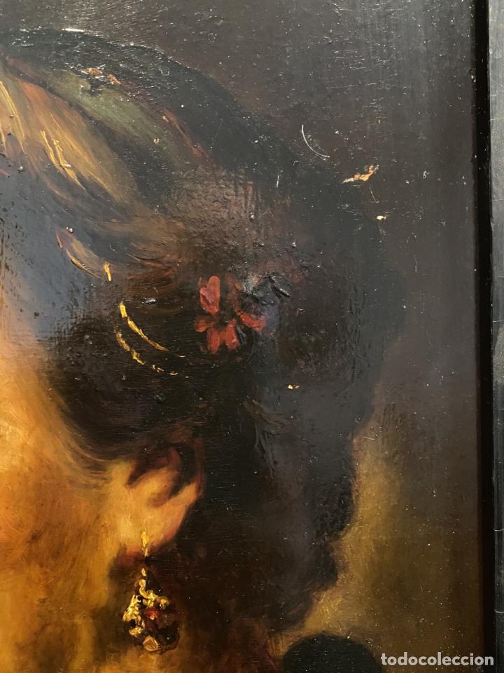 Arte: La vieja dama de la diadema de perlas. Escuela italiana. - Foto 5 - 238030120