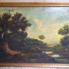 Arte: GRAN ÓLEO REENTELADO DEL SIGLO XVIII ESCUELA HOLANDESA ANONIMO.BUEN TRAZO Y BIEN CONSERVADO.. Lote 238122275