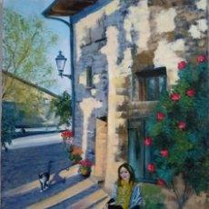 Arte: ARTE - PINTURA OLEO SOBRE LIENZO - MODERNO - PAISAJE RUSTICO ESPAÑOL - FIRMADA - 70 X 50 CM.. Lote 238123525