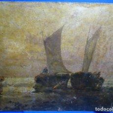 Arte: ÓLEO SOBRE TELA ANONIMO DE FINALES DEL S. XIX.ESCUELA CATALANA DE GRAN CALIDAD.ELISEO MEIFREN ?. Lote 238143070