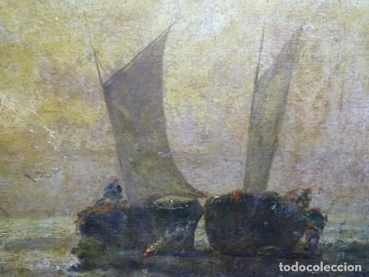 Arte: ÓLEO SOBRE TELA ANONIMO DE FINALES DEL S. XIX.ESCUELA CATALANA DE GRAN CALIDAD.ELISEO MEIFREN ? - Foto 2 - 238143070
