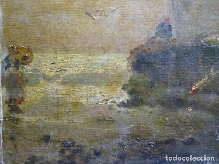 Arte: ÓLEO SOBRE TELA ANONIMO DE FINALES DEL S. XIX.ESCUELA CATALANA DE GRAN CALIDAD.ELISEO MEIFREN ? - Foto 3 - 238143070