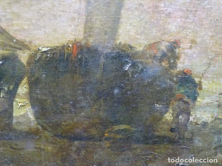 Arte: ÓLEO SOBRE TELA ANONIMO DE FINALES DEL S. XIX.ESCUELA CATALANA DE GRAN CALIDAD.ELISEO MEIFREN ? - Foto 6 - 238143070