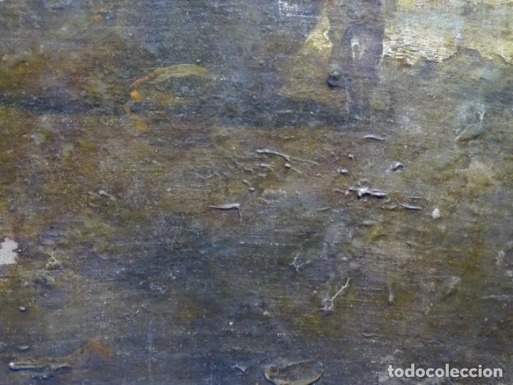 Arte: ÓLEO SOBRE TELA ANONIMO DE FINALES DEL S. XIX.ESCUELA CATALANA DE GRAN CALIDAD.ELISEO MEIFREN ? - Foto 7 - 238143070