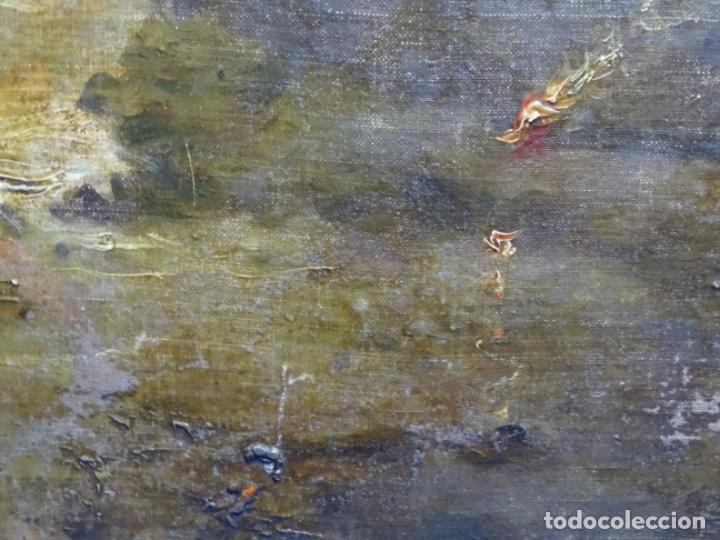 Arte: ÓLEO SOBRE TELA ANONIMO DE FINALES DEL S. XIX.ESCUELA CATALANA DE GRAN CALIDAD.ELISEO MEIFREN ? - Foto 8 - 238143070