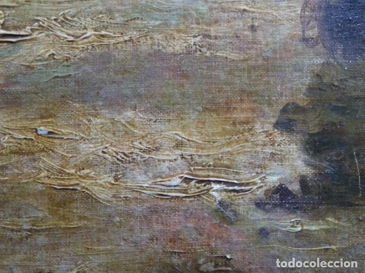 Arte: ÓLEO SOBRE TELA ANONIMO DE FINALES DEL S. XIX.ESCUELA CATALANA DE GRAN CALIDAD.ELISEO MEIFREN ? - Foto 9 - 238143070