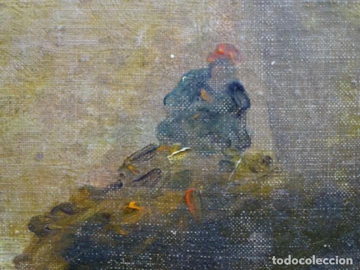 Arte: ÓLEO SOBRE TELA ANONIMO DE FINALES DEL S. XIX.ESCUELA CATALANA DE GRAN CALIDAD.ELISEO MEIFREN ? - Foto 11 - 238143070