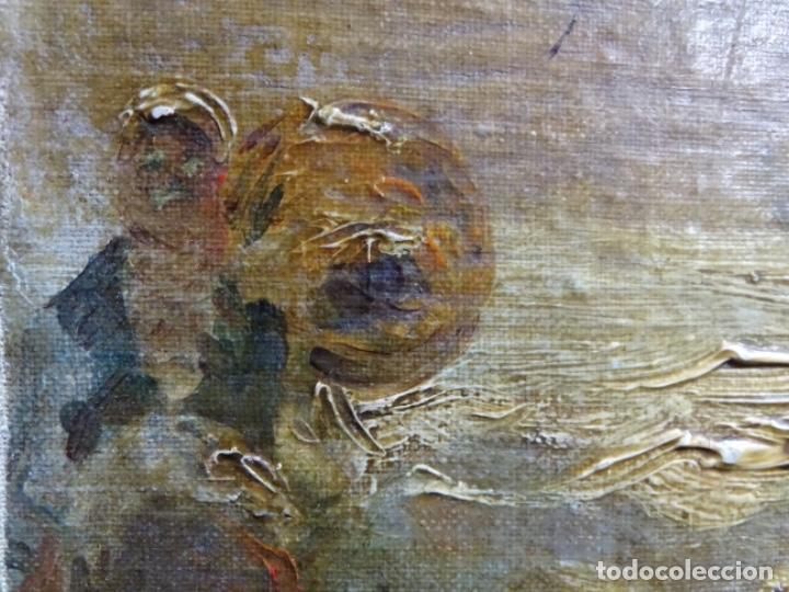 Arte: ÓLEO SOBRE TELA ANONIMO DE FINALES DEL S. XIX.ESCUELA CATALANA DE GRAN CALIDAD.ELISEO MEIFREN ? - Foto 12 - 238143070