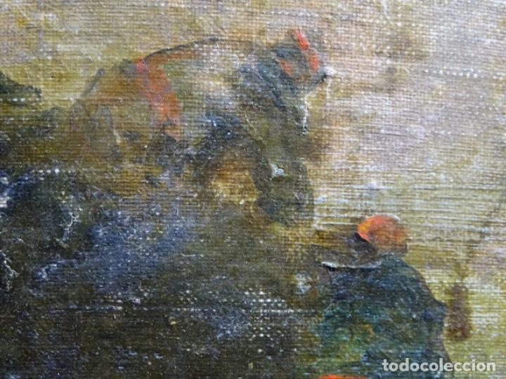 Arte: ÓLEO SOBRE TELA ANONIMO DE FINALES DEL S. XIX.ESCUELA CATALANA DE GRAN CALIDAD.ELISEO MEIFREN ? - Foto 14 - 238143070