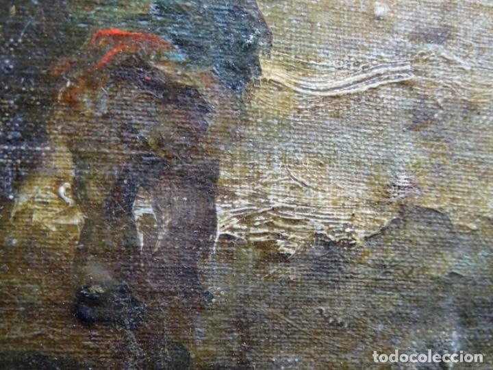 Arte: ÓLEO SOBRE TELA ANONIMO DE FINALES DEL S. XIX.ESCUELA CATALANA DE GRAN CALIDAD.ELISEO MEIFREN ? - Foto 15 - 238143070