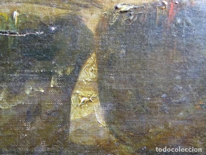 Arte: ÓLEO SOBRE TELA ANONIMO DE FINALES DEL S. XIX.ESCUELA CATALANA DE GRAN CALIDAD.ELISEO MEIFREN ? - Foto 16 - 238143070