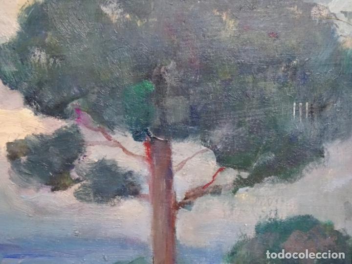 Arte: EXCELENTE ÓLEO SOBRE TABLA DE JOAQUIM VANCELLS I VIETA.PAISAJE TORMENTOSO. - Foto 5 - 238148795
