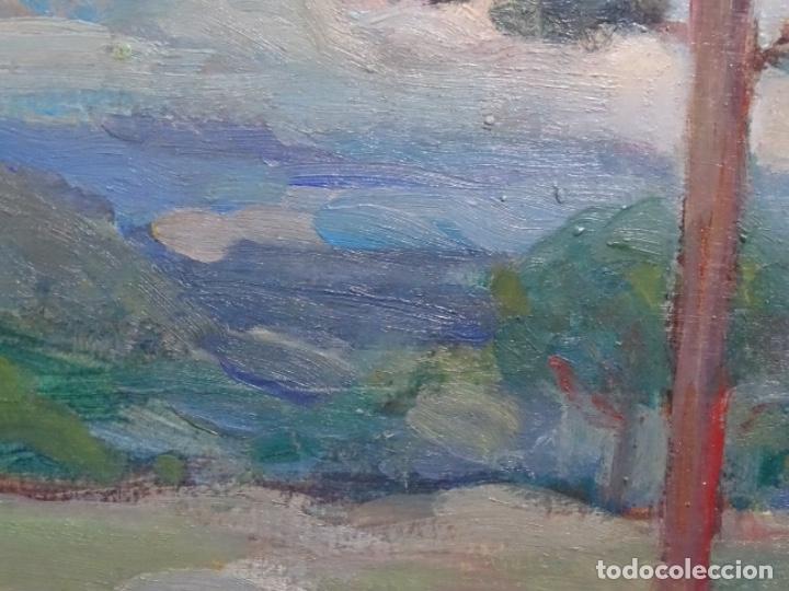 Arte: EXCELENTE ÓLEO SOBRE TABLA DE JOAQUIM VANCELLS I VIETA.PAISAJE TORMENTOSO. - Foto 6 - 238148795